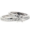 1/2ct Cathedral Diamond Channel Set Rings 14K White Gold (G/H, I1)