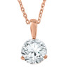 1/3 ct Solitaire Lab Grown Diamond Pendant available in 14K and Platinum (F, SI1-SI2)