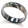 Mens 14K Black Gold Hammered Wedding Ring 6mm New Band