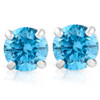 1/2ct Treated Blue Diamond Studs 14K White Gold (Blue, I2-I3)