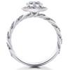1 ct Lab Grown Diamond McKenna Halo Engagement Ring 14k White, Yellow, Rose Gold (F, VS)