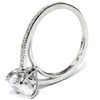 1 1/10ct Oval Diamond Vintage Engagement Ring Solitaire Antique 14K White Gold (H/I, I1-I2)