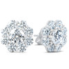 3 1/2ct Halo Fire Diamond Studs 14K White Gold (G/H, I1)