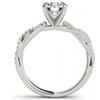 1/2ct Diamond Engagement Ring Infinity Twist 14k White Gold (H/I, I1-I2)