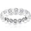 2ct Bezel Diamond Eternity Stackable Wedding Ring 14k White Gold (G/H, SI)