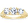 1ct Three Stone Round Diamond Engagement Ring 14K Yellow Gold (H, SI)