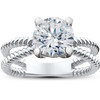 1 1/2 ct Solitaire Diamond Engagement Ring 14K White Gold (G/H, SI2-I1)