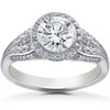 1 1/4 ct Lab Grown Diamond Vintage Halo Zoe Engagement Ring White Gold 14k (F, VS)