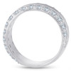 2 3/4ct Diamond Double Row 8mm Wide Wedding Band 14K White Gold (G/H, I1)