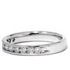 1/2ct 14K White Gold Diamond Wedding Guard Ring Band (G/H, I1)