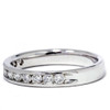 1/2ct 14K White Gold Diamond Wedding Guard Ring Band (G/H, I1)