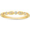 1/6ct Diamond Wedding Ring 14k Yellow Gold (G, I1)