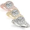 1 3/4ct Halo Diamond Engagement Ring White, Yellow, or Rose Gold Enhanc (I/J, I2)