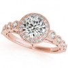 1 3/4ct Halo Diamond Engagement Ring White, Yellow, or Rose Gold Enhanc (I/J, I2)