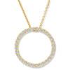 14K Yellow Gold 1/2ct Circle Of Life Diamond Pendant (G/H, I1)