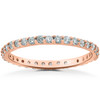 7/8Ct Lab Created Diamond Eternity Wedding Ring 14k White Yellow or Rose Gold (F, VS(2)-SI(1))