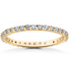 7/8 ct Lab Grown Diamond Eternity Womens Stackable Wedding Ring (F, VS(2)-SI(1))