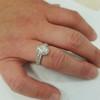 1 1/4 ct Oval Halo Diamond Engagement Wedding Ring Set 14k White Gold ((G-H), SI(2)-I(1))