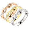 1/8ct Diamond Infinity Wedding Ring Available in 14k White, Yellow, or Rose Gold (I/J, I1-I2)