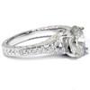 1 1/4ct oval Diamond Vintage Engagement Ring 14K White Gold (H/I, I1-I2)