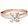 Rose Gold 1 3/4ct Diamond Engagement Ring Solitaire 14 Karat Enhanced (F, SI(1)-SI(2))