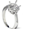 1/4ct Round Pave Diamond Halo Engagement Ring 14K Mount Setting Mounting Vintage (G/H, I2)