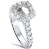 1/2ct Princess Cut Engagement Diamond Ring Setting 14K White Gold (G/H, I1)