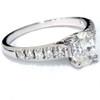 1 1/6ct Oval Diamond Engagement Ring 14K White Gold (H/I, I1)