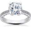 1 5/8 ct Lab Created Eco Friendly Diamond Vintage Engagement Ring 14k White Gold (F, VS)