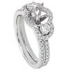 1 1/10ct 3 Stone Diamond Engagement Ring Setting & Matching Band (G/H, I2)