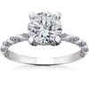 1 5/8 ct Lab Grown Round Eco Friendly Diamond Mia Engagement Ring 14k White Gold (F, VS)
