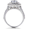 1 ct Double Halo Round Diamond Eco Friendly Lab Created Engagement Ring 14k Gold (F, VS)