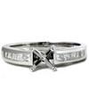 1/2ct Princess Cut Cathedral Engagement Ring Setting (G/H, SI)