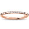 1/5 ct Lab Created Diamond Wedding Ring in 14k Gold or Platinum (F/G, VS2-SI1)