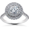 1 5/8 ct Double Halo Diamond Eco Friendly Lab Grown Engagement Ring 14k Gold (F, VS2)