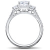 1 1/4 Ct 3-Stone Lab Created Diamond Engagement Ring Wedding Band 14k White Gold (F, VS)