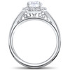 1 3/4 ct Lab Created Eco Friendly Halo Diamond Madelyn Halo Engagement Ring 14k (F, VS)
