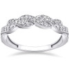 1/3 ct Diamond Infinity Vintage Wedding Ring 14K White Gold Lab Created (G, VS)