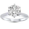 14k White Gold 1 1/2 Carat Diamond Round Solitaire Engagement Ring Enhanced ((D), I(1))