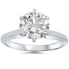 14k White Gold 1 1/2 Carat Diamond Round Solitaire Engagement Ring Enhanced ((D), I(1))