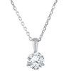 1/4 ct Solitaire Diamond Pendant available in 14K and Platinum (F, SI1-SI2)