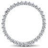 1ct Diamond Eternity Wedding Ring in 14k White, Yellow, Rose Gold Lab Grown ((G-H), SI(1)-SI(2))