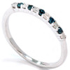 1/4ct Blue & White Diamond Anniversary Ring 14K (G/H, I2)