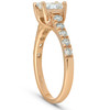 14k Yellow Gold Princess Cut 1 1/4ct Enhanced Diamond Cathedral Engagement Ring (H, I1)