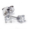 1/5ct Round Diamond Studs Earrings 14K White Gold (G/H, SI)