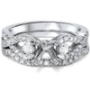 1/2ct Diamond Infinity Style Engagement Setting Set 14K White Gold (G/H, SI1-SI2)