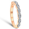 1/5 cttw Diamond Stackable Womens Wedding Ring 14k Rose Gold (I/J, I2-I3)