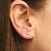 .33Ct Round Brilliant Cut Natural Diamond Stud Earrings in 14K Gold Basket Setting (G/H, I2-I3)