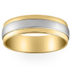 Mens 950 Platinum & 18K Gold Two Tone Wedding Band New