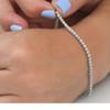 """4ct Diamond Tennis Bracelet 14K White Gold 7"""" (G/H, I2)"""